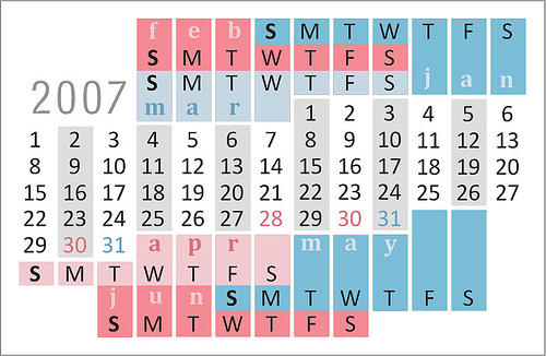 blogging calendar
